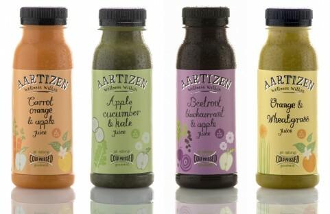 photograph of aartizen juice bottle