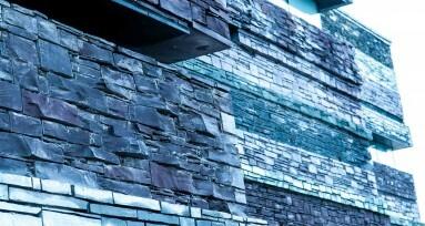 Stylish Photograph of a Slate Building